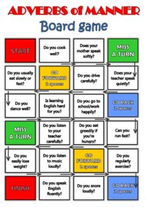 adverbs of manner board game boardgames