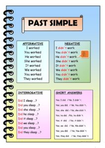 The past simple in English